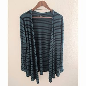 Volcom | Forest Green Striped Knit Cardigan NEW💚